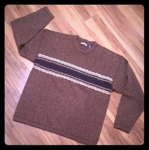 Vintage Structure sweater 100% Wool